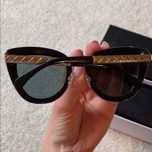 Chanel black cat eye tinted sunglasses 🕶